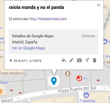 raiola manda en google maps